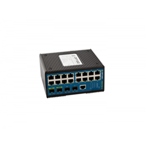 Edge Switch, 16 PoE+ FE, 4 SFP, Ind. DIN