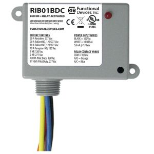 Enclosed Dry Contact Relay, 20 Amps