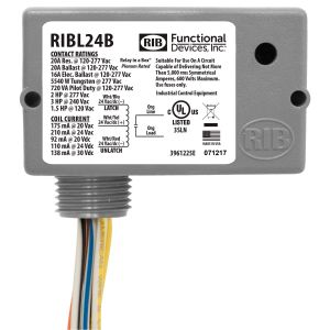 Enclosed Latching Relay, 20 Amps